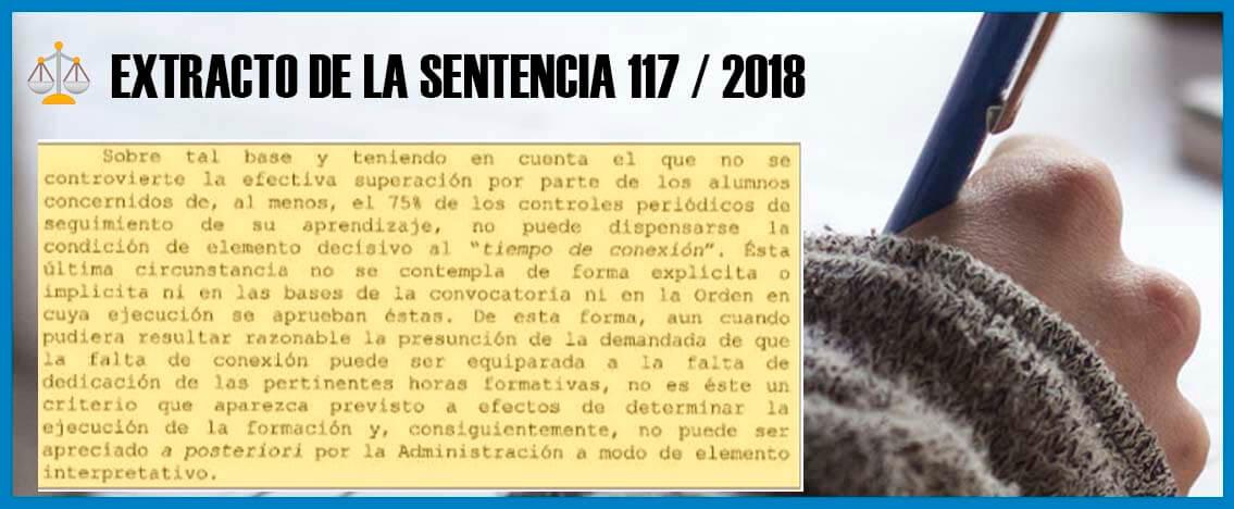 sentencia 117/2018